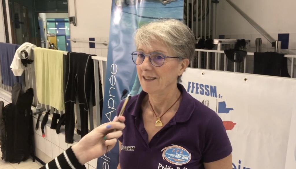 interview de Georgette Raymond, vice-championne du monde en apnée dynamique